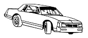Stock Car 6 Decal Sticker