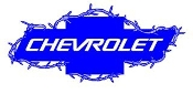 Chevrolet Barbed Wire v2 Decal Sticker