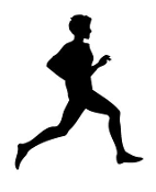 Distance Runner Silhouette Decal Sticker