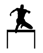Hurdler Silhouette Decal Sticker