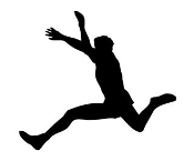 Long Jump Silhouette Decal Sticker