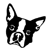 Boston Terrier Head Decal Sticker