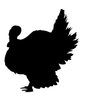 Turkey Silhouette Decal Sticker