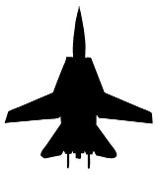 Fighter Jet Silhouette v5 Decal Sticker