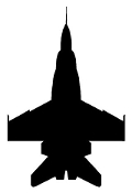 Fighter Jet Silhouette v6 Decal Sticker