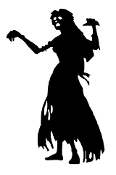Zombie Woman v1 Decal Sticker