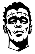 Frankenstein Monster v2 Decal Sticker