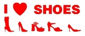 I Love Shoes Decal Sticker