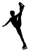 Ice Skater Silhouette v5 Decal Sticker