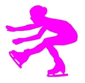 Ice Skater Silhouette v3 Decal Sticker