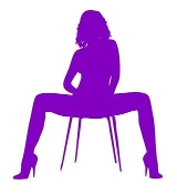 Girl on Chair v2 Decal Sticker