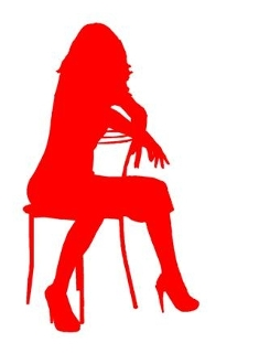 Girl on Chair v8 Decal Sticker
