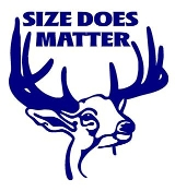 Size Does Matter Deer Hunting Decal Sticker