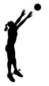 Volleyball Player Silhouette v2 Decal Sticker