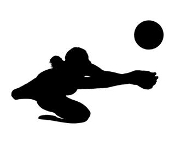 Volleyball Player Silhouette v5 Decal Sticker