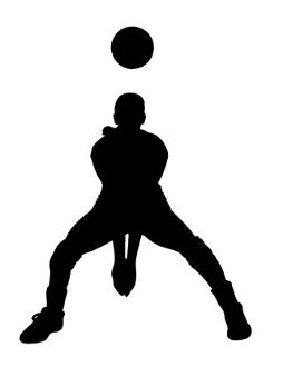Volleyball Player Silhouette 6 Decal Sticker
