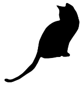Cat Silhouette v2 Decal Sticker