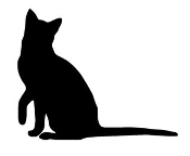 Cat Silhouette v3 Decal Sticker