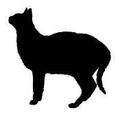 Cat Silhouette v4 Decal Sticker