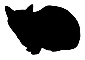 Cat Silhouette v6 Decal Sticker