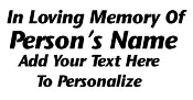 Personalized Memorial v1 Decal Sticker