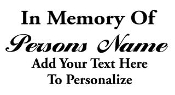 Personalized Memorial v3 Decal Sticker