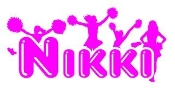 Personalized Cheerleader Name Decal Sticker