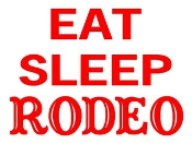 Eat Sleep Rodeo Decal Sticker