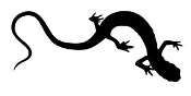 Lizard Silhouette v15 Decal Sticker