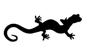 Lizard Silhouette v16 Decal Sticker