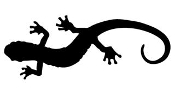 Lizard Silhouette v17 Decal Sticker