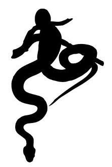 Snake Silhouette v5 Decal Sticker
