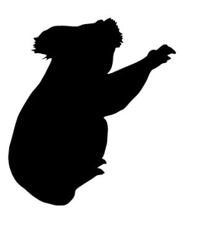 Koala Bear Silhouette Decal Sticker