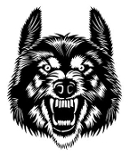Wolf Head v4 Decal Sticker