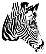 Zebra Head v2 Decal Sticker
