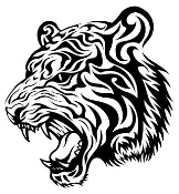 Tribal Tiger Head v2 Decal Sticker
