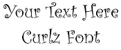 Curlz Font Decal Sticker