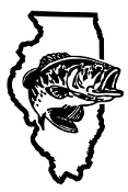 Illinois Bass Fishing Decal Sticker