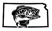 Kansas Bass Fishing Decal Sticker