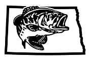 North Dakota Bass Fishing Decal Sticker