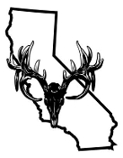California Deer Skull Decal Sticker