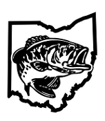 Ohio Bass Fishing Decal Sticker