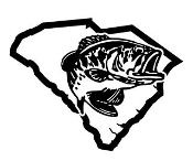 South Carolina Bass Fishing Decal Sticker