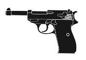 Handgun v6 Decal Sticker