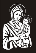 Mary and Jesus Decal Sticker