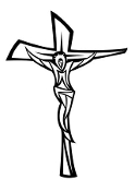 Jesus on the Cross  2 Decal Sticker