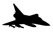 Fighter Jet Silhouette v7 Decal Sticker