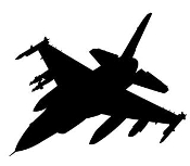 Fighter Jet Silhouette v9 Decal Sticker