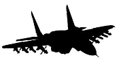 Fighter Jet Silhouette v10 Decal Sticker