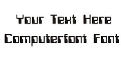 Computerfont Font Decal Sticker